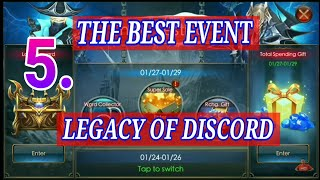 5.The Best Event LEGACY OF DISCORD