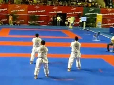 Karate Sea Games 2011 - Indonesia - Team Male - Kata Sumarimpei Travel Video