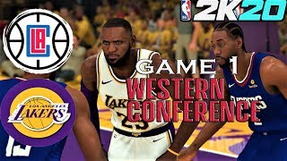 NBA 2K20 Gameplay Full Match Western Finals Game 1 Lakers vs Clippers - PC simulation (1080p 60fps)
