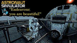 "Astronaut Simulator. #1: Spacewalking & Repairs. ""Endeavour, you are beautiful!"" [HD]"