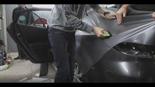 Оклейка заднего крыла и дверей. Mazda 6 - Антрацит. Часть 2