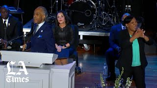 """Sharpton at George Floyd memorial: """"Get your knee off our necks"""""""