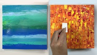 4 Cool Acrylic Painting Texture Techniques ( Easy )