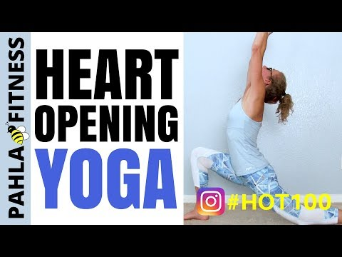 Energizing YOGA Flow to Open Your Heart 20 Minute Strength + Flexibility | HOT 100 Challenge Day 99