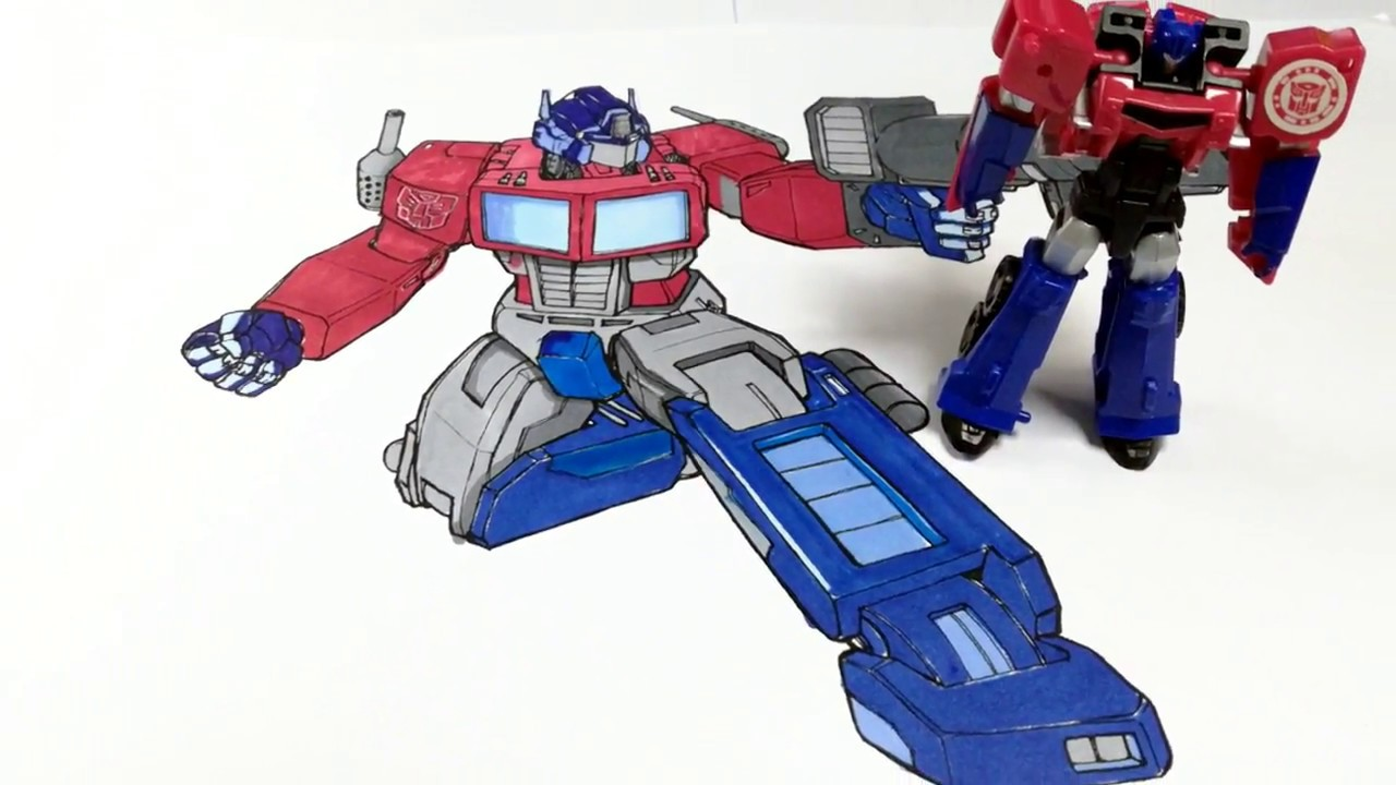 How To Color Transformers Optimus Prime