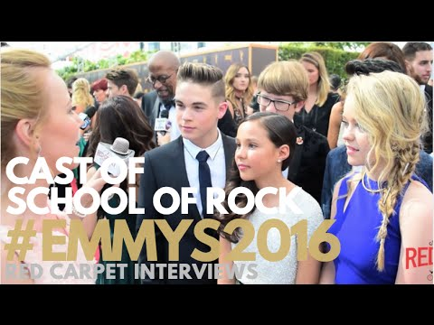 Cast of School of Rock interviewed at Creative Arts Emmy Awards Red Carpet Day 1 #Emmys #EmmysArts