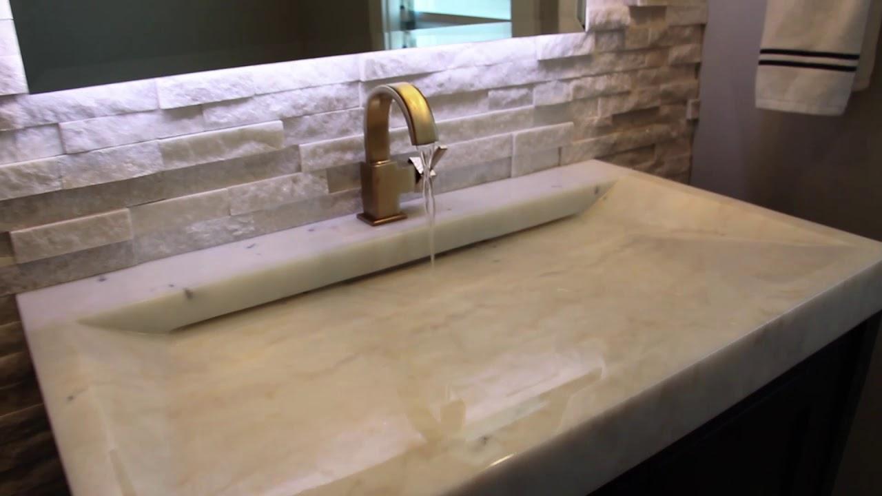 marble sink slot drain youtube