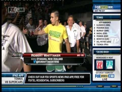 Robert Whittaker - UFC Ultimate Fighter Smashes - Fox Sports News - December 20, 2012