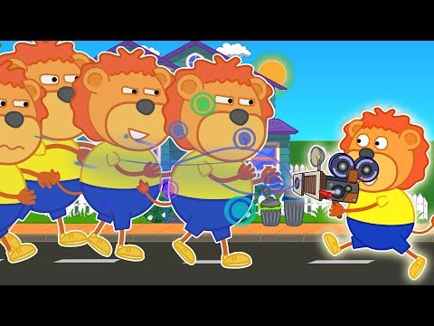 Lion Family ♌ Clones From Photo Shop Cartoon For Kids