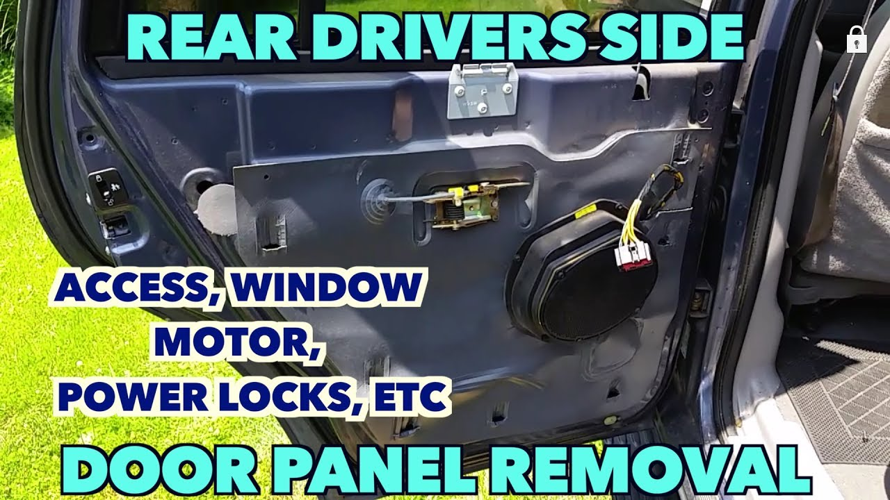 Rear Drivers Side Door Panel Removal Expedition Access Speakers Window Motor Etc
