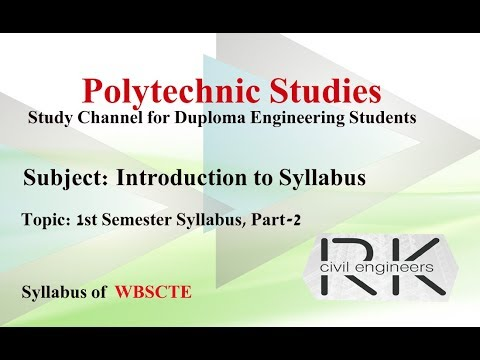 Polytechnic 1st Year 1st Semester : Introduction to Syllabus 2