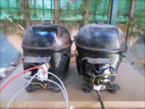 Compresor Casero Con Motor De Nevera Youtube