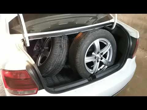 Как разместить четыре колеса в багажнике фольц поло.