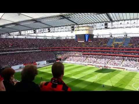 Eintrach Frankfurt vs Vfl Wolfsburg Hymne + Choreo