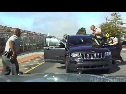Raw Dashcam Footage Of Walmart Shoplifter Police Chase