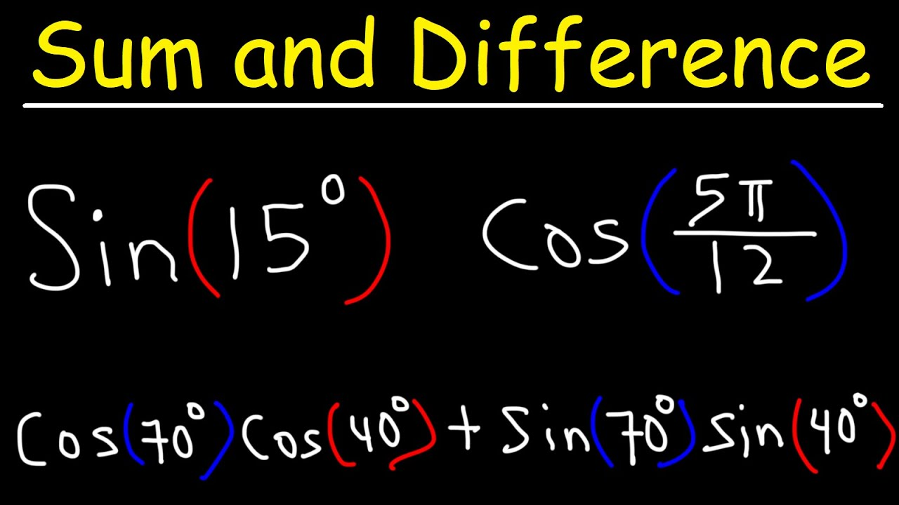 Sum and Difference Identities of Sine and Cosine