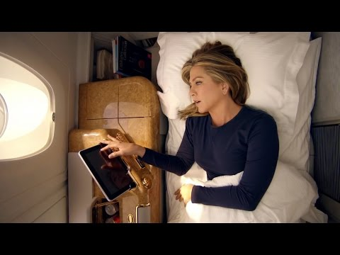 Emirates Jennifer Aniston shower ad (Friends actress)