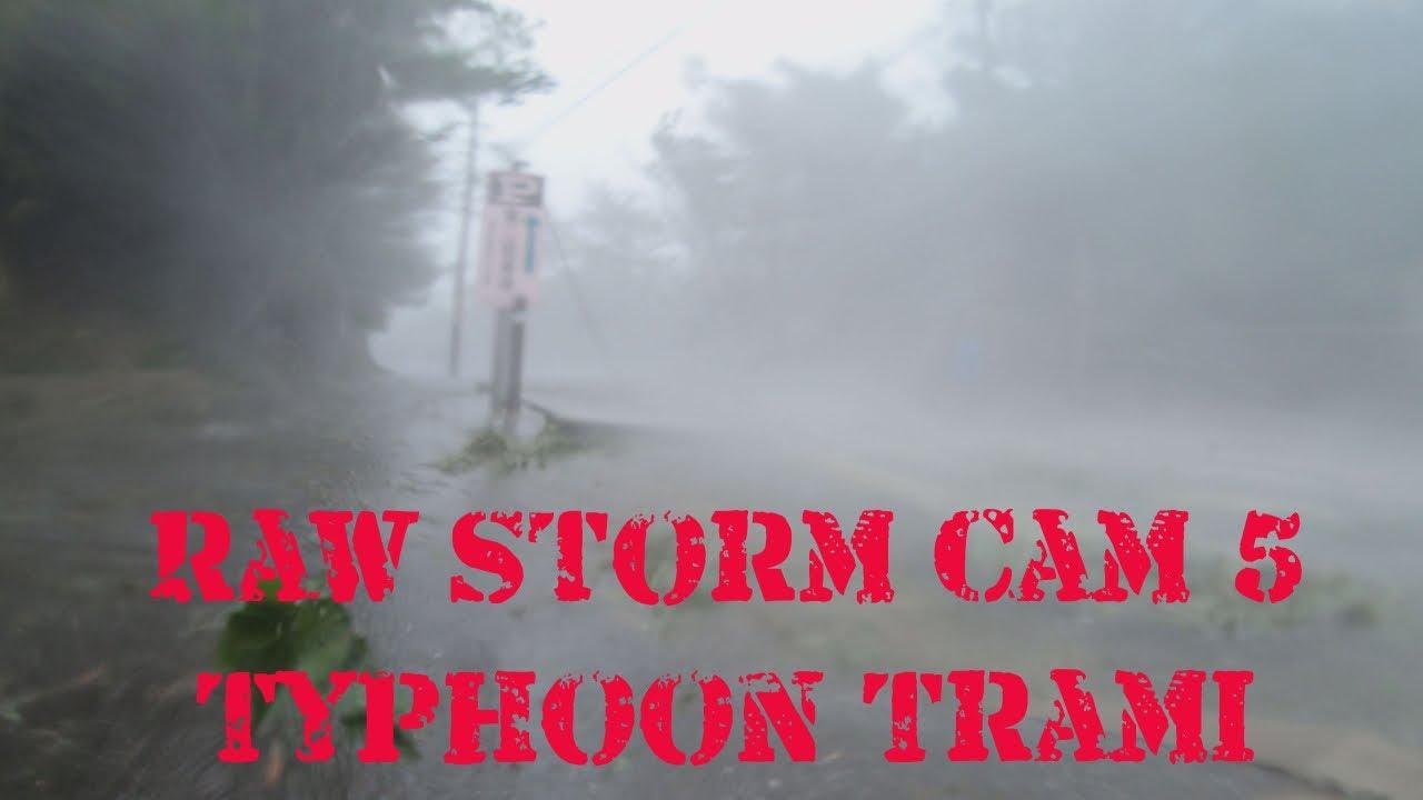 Raw Storm Cam 5: Ferocious Wind In Eyewall Of Typhoon Trami In Okinawa