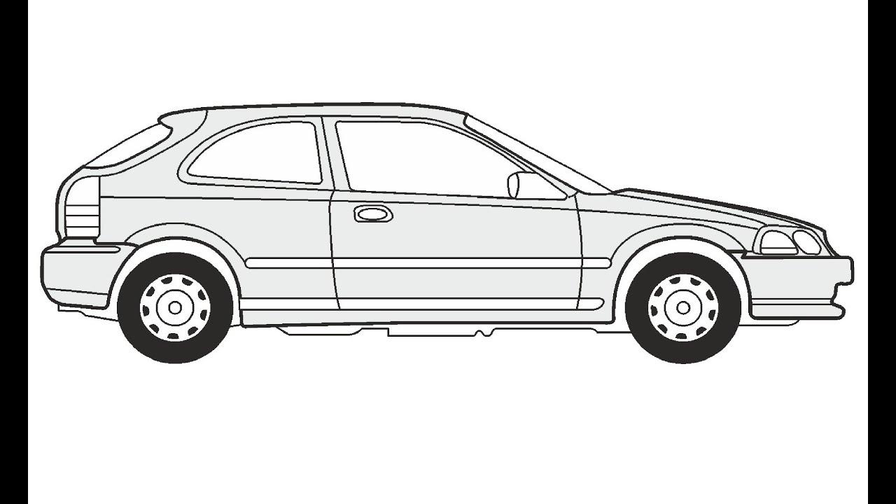 How To Draw A Honda Civic 3 Honda Civic 3