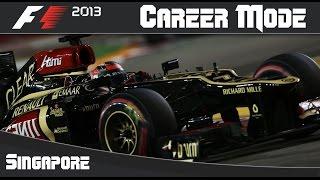 F1 2013 Career Mode: Round 13 Singapore Grand Prix