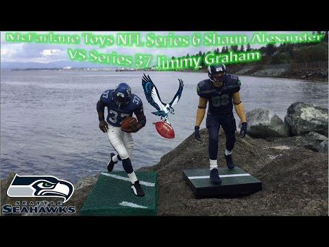 McFarlane Toys NFL Series 6 Shaun Alexander VS Series 37 Jimmy Graham
