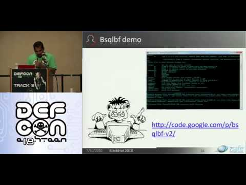 Defcon 18 - Hacking Oracle from web apps - Sumit Siddharth