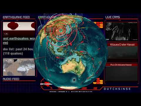 11/09/2018 -- Large M6.8 Earthquake strikes Arctic Circle North Pole -- Seismic unrest obvious