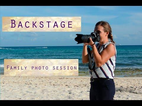 Cancun Family Photographer. Beach Photo Session Backstage Elena Fedorova Photography.