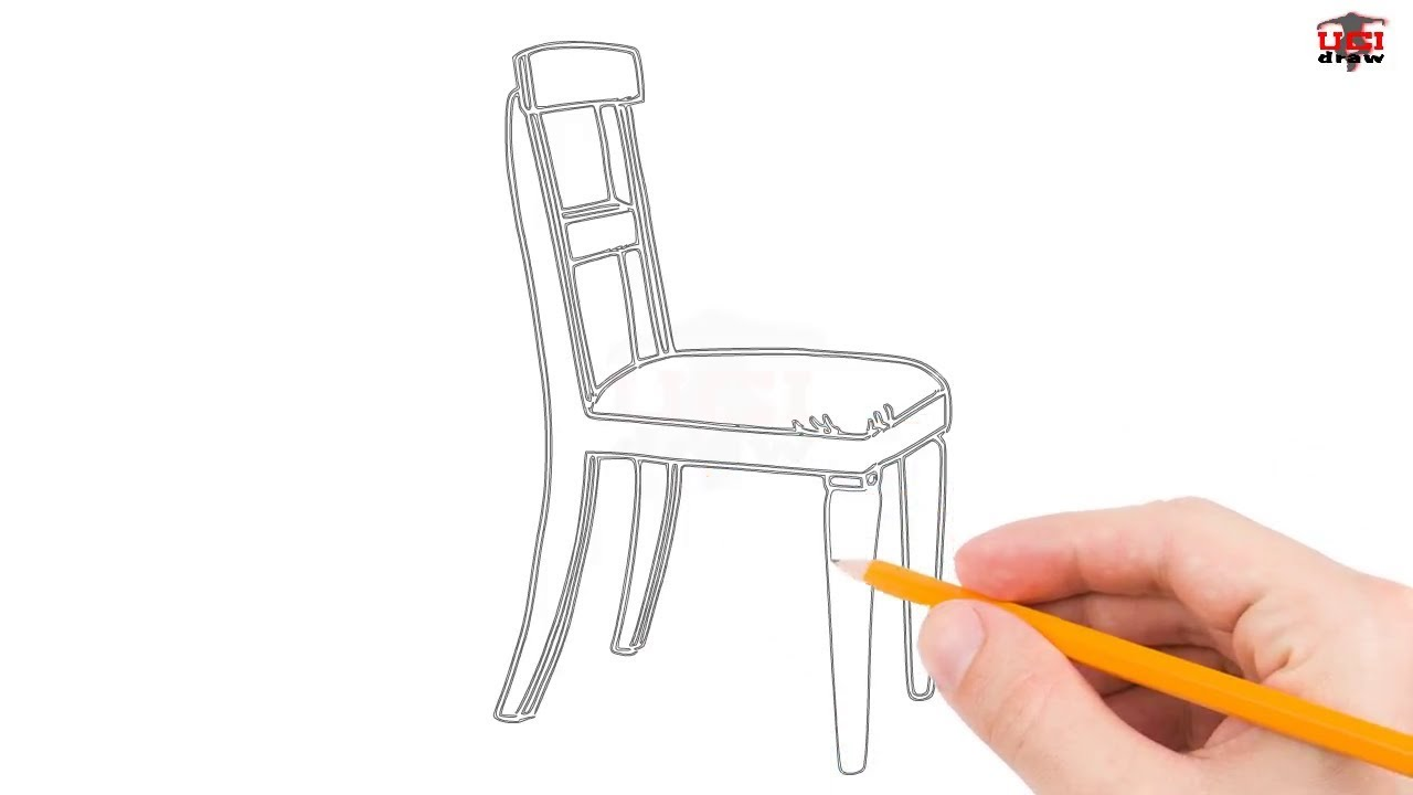 How to Draw a Chair Step by Step Easy for BeginnersKids Simple