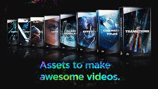 Presets Pack for Premiere Pro: Transitions, Titles, Effects, V…