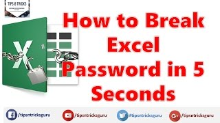 Open /Break Password Protected Excel File (100% Free) without password / forget password