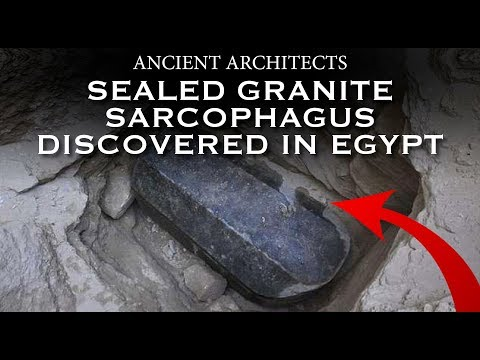 30Ton Sealed Black Granite Sarcophagus Dised in Egypt  Ancient Architects