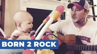 Baby Jams Along to Dad39s ABC39s