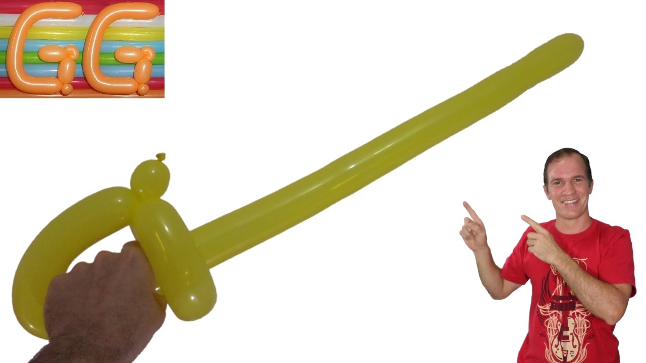 Como hacer la espada mas facil con globos globoflexia - Hacer munecos con globos ...