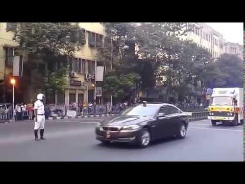 President of India convoy in Kolkata