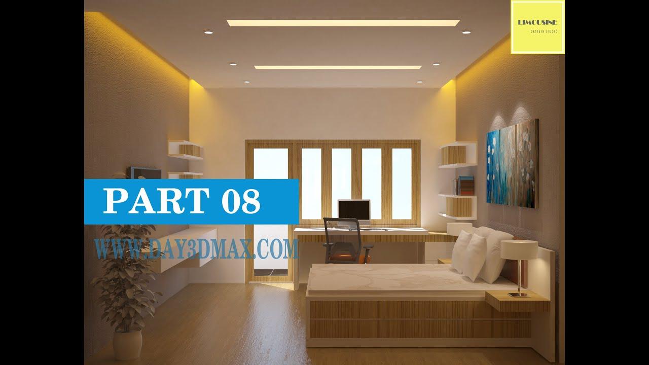 Học 3d max 4. P8  Vẽ nội thất 1 căn phòng ngủ – learning study 3d draw an interior perpective