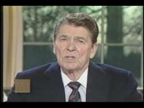 President Ronald Reagan - Address on the Challenger Disaster