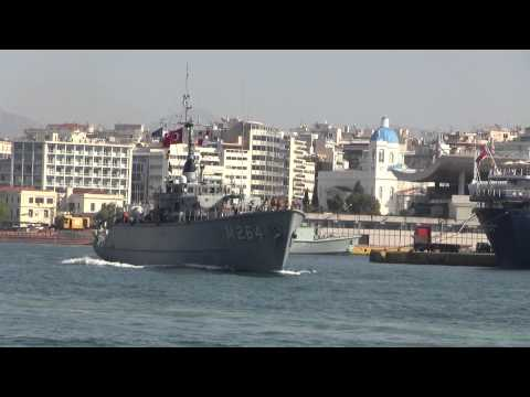 NATO SHIPS AT THE PORT OF PIRAEUS GREECE