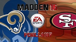 Madden Rams vs 49ers Full Game PS4 Gameplay Uncut Raw Video
