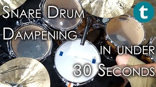 Snare Drum Dampening Sounds - in 30 seconds or less