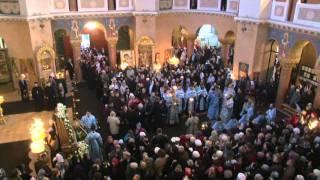 Акафистное пение перед Поясом Пресвятой Богородицы