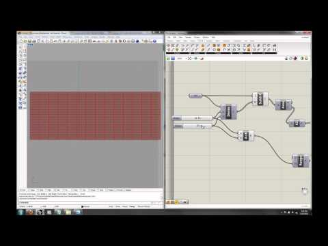 Grasshopper Lecture 3 - Part 2: Surface Paneling and Distribution
