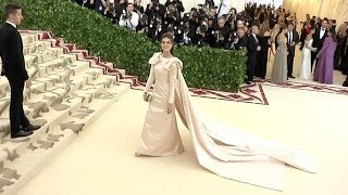 Ariana Rockefeller and more on the red carpet for the MET Costume Institute Gala