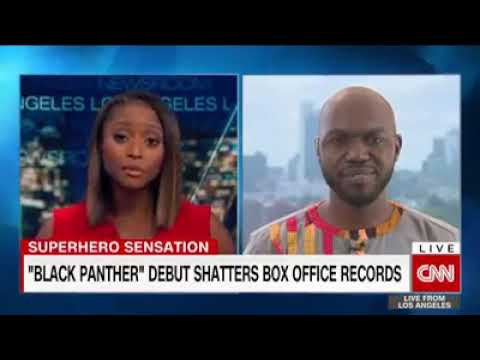 Larry Madowo talking about Black Panther on CNN