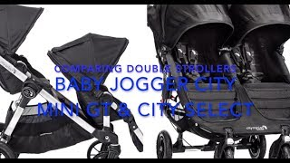 Comparing City Select & City Mini GT double strollers by Baby Jogger