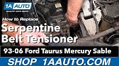 How To Replace Serpentine Belt In Ford Taurus 2000 2007 Youtube