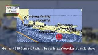 Gempa 5,6 SR Guncang Pacitan, Terasa Hingga Yogyakarta Dan Surabaya