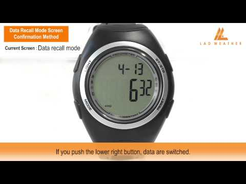 Data Recall Mode Screen Confirmation Method | PEDOMETER MASTER II