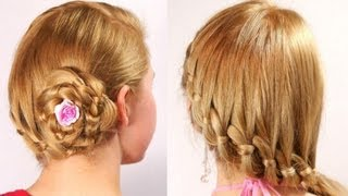 Frisuren für langes mittlere Haar mit Zöpfen