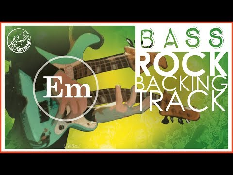Rock Bass Backing Track in E Minor